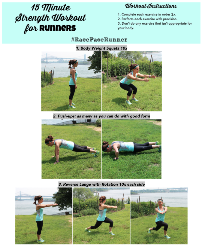 15 Minute Equipment-Free Strength Workout for Runners - Race